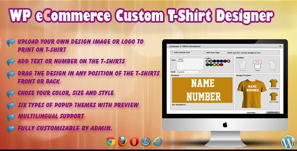 Wp Ecommerce Custom T Shirt Design Studio By Wpproducts Codecanyon