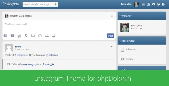 Instagram Theme for phpDolphin - CodeCanyon Item for Sale