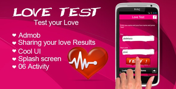 Love Test with AdMob - CodeCanyon Item for Sale