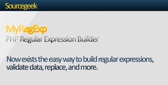 MyRegExp - PHP Regular Expression Builder - CodeCanyon Item for Sale