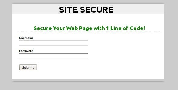 Site Secure PHP Page Protection Utility - CodeCanyon Item for Sale