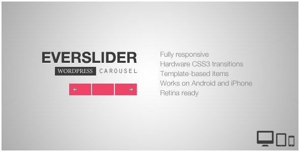 Everslider - Responsive WordPress Carousel Plugin - CodeCanyon Item for Sale