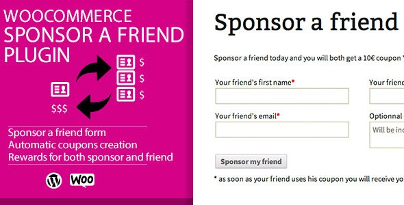WooCommerce Sponsor a Friend Plugin - CodeCanyon Item for Sale