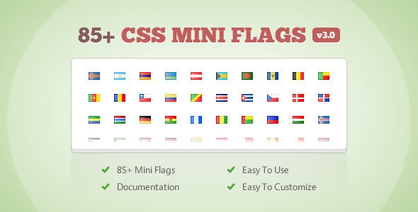 85+ CSS Mini Flags - CodeCanyon Item for Sale