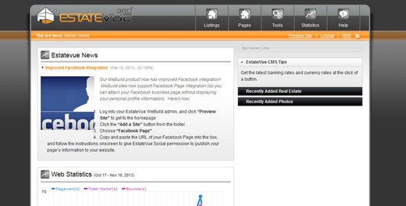 EstateVue IDX Real Estate WordPress Plugin