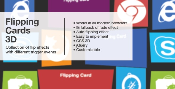 Flipping Cards 3D with jQuery/CSS3 - CodeCanyon Item for Sale