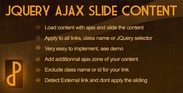 JQuery Ajax Slide Content - CodeCanyon Item for Sale
