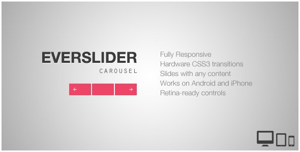 Everslider - Responsive jQuery Carousel Plugin - CodeCanyon Item for Sale