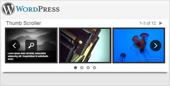 Wordpress Image & Content Scroller with Lightbox