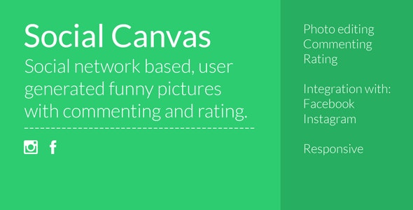 Social canvas - CodeCanyon Item for Sale