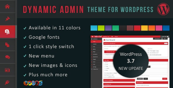 Dynamic Admin Theme for WordPress - CodeCanyon Item for Sale