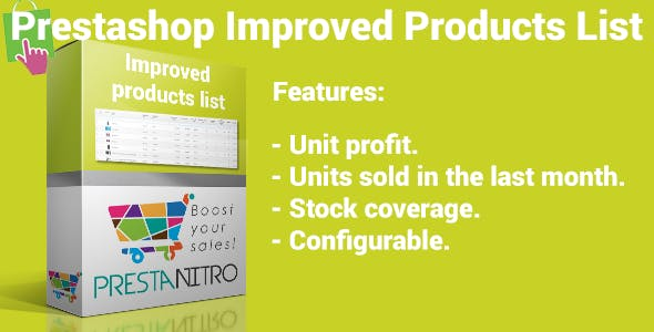 Prestashop Improved Product List