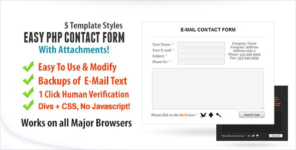Easy Contact Form With Attachments - CodeCanyon Item for Sale