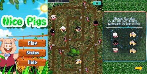 Nice Pigs : iOS Universal Game with AdMob
