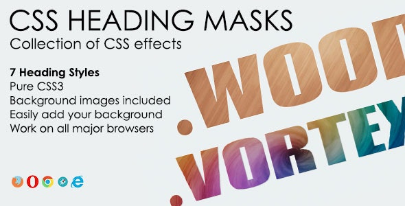 CSS Heading Masks - CodeCanyon Item for Sale