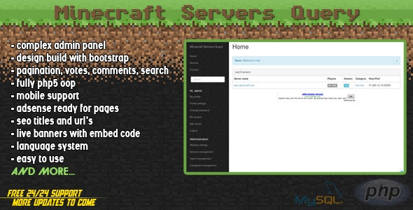 Minecraft Servers Query - CodeCanyon Item for Sale