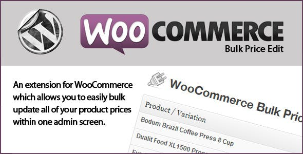 WooCommerce Bulk Price Edit