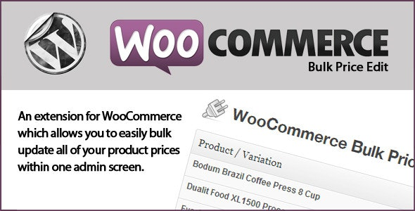WooCommerce Bulk Price Edit - CodeCanyon Item for Sale