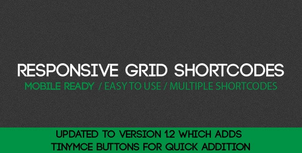 Responsive Grid Shortcodes for WordPress - CodeCanyon Item for Sale
