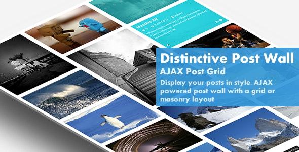 Distinctive Post Wall - AJAX Post Grid - CodeCanyon Item for Sale
