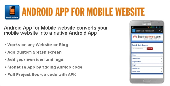 Android App for Mobile Website - CodeCanyon Item for Sale