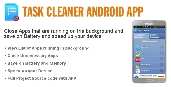 Task Cleaner Android App - CodeCanyon Item for Sale