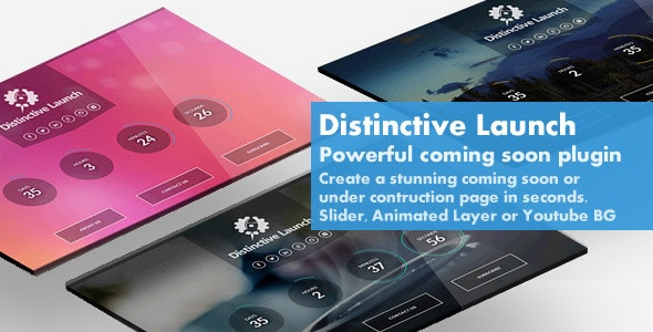 Distinctive Launch - Powerful Coming Soon Plugin - CodeCanyon Item for Sale