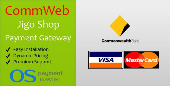 CommWeb JigoShop Payment Gateway