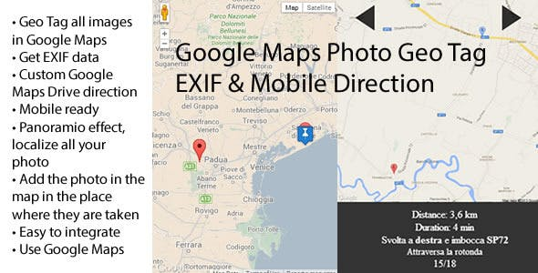 Google Maps Photo Geo Tag EXIF & Mobile Direction