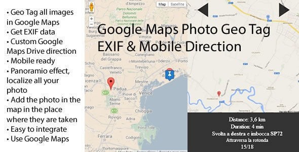Google Maps Photo Geo Tag EXIF & Mobile Direction - CodeCanyon Item for Sale
