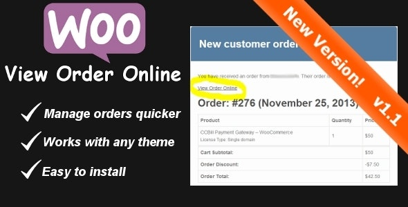 WooCommerce View Order Online Link - CodeCanyon Item for Sale