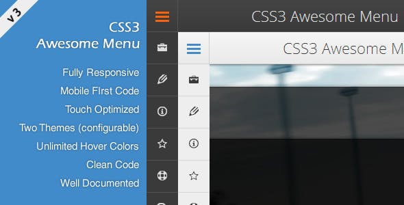 CSS3 Awesome Menu