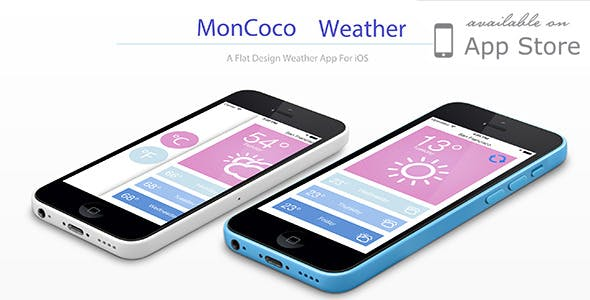 Moncoco-Weather v1.1 - a beautiful app for iOS 9