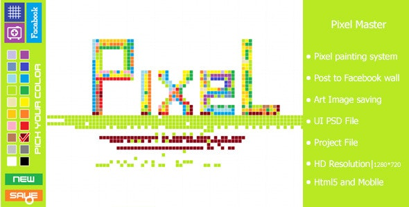 Pixel Master-Html5 Pixel Painting Game - CodeCanyon Item for Sale