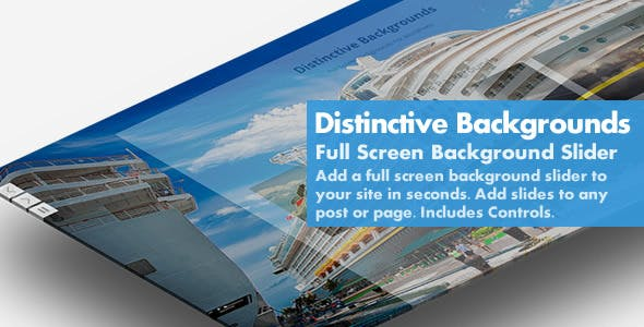 Distinctive Backgrounds - Simple Responsive Fullscreen Background Slider