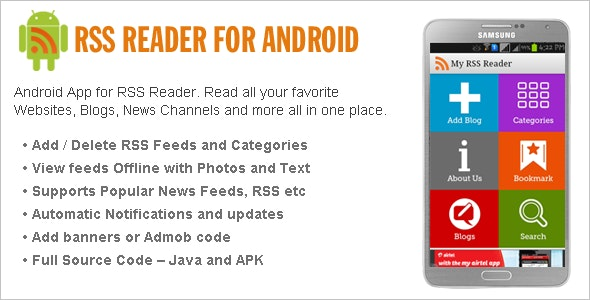 Android RSS Reader by wpnova | CodeCanyon