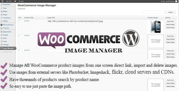 WooCommerce Image Manager