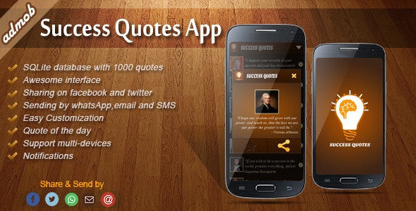 Success Quotes - Android Template - CodeCanyon Item for Sale