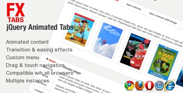 Fx Tabs - Animated Sliding Tabs - CodeCanyon Item for Sale