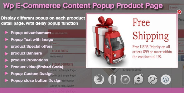 Custom Popup at Product Page for WP e-Commerce - CodeCanyon Item for Sale