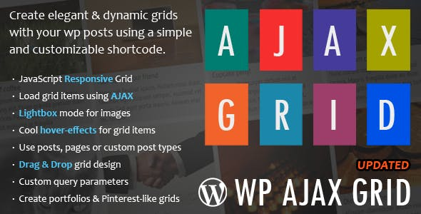 WP Ajax Grid - Pinterest Style Plugin - CodeCanyon Item for Sale