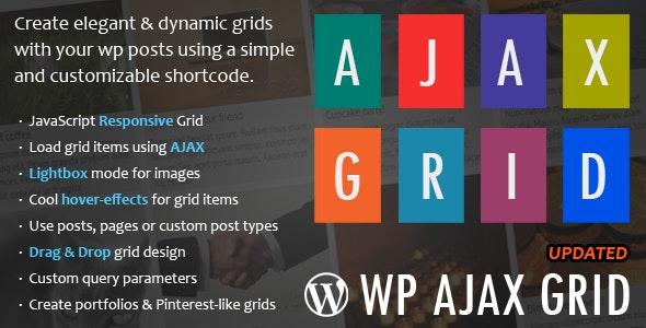 WP Ajax Grid - Pinterest Style Plugin - CodeCanyon Item for Sale