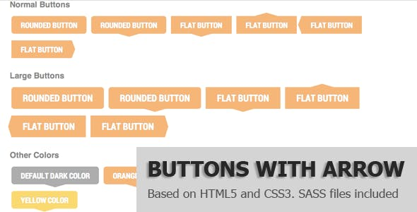 Pure CSS Buttons with Arrow