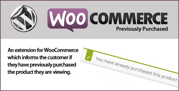 WooCommerce Previously Purchased - CodeCanyon Item for Sale