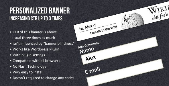Personalized banner (increasing CTR up to 3 times) - CodeCanyon Item for Sale