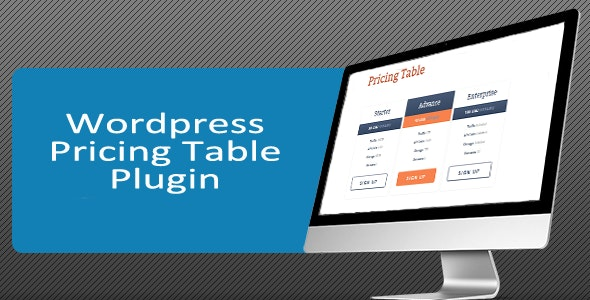 Wordpress Pricing Table Generator with Paypal  - CodeCanyon Item for Sale