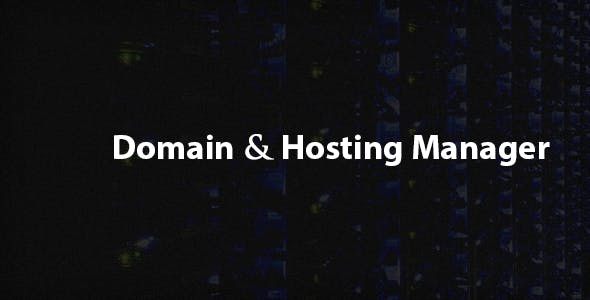 Domain and Hosting Manager