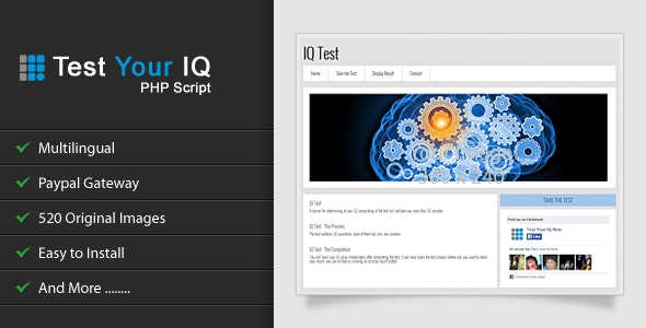 Test Your IQ - CodeCanyon Item for Sale