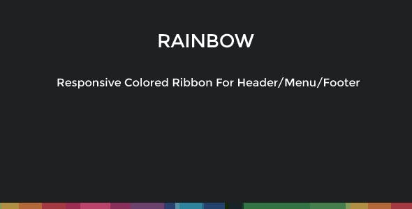 Responsive Colored Header/Footer Ribbon