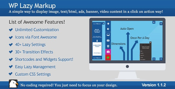 Lazy Markup / WP Click on Action Markup Display - CodeCanyon Item for Sale
